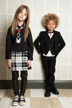 yeah, those are leather leggings for the little ones! gaultier, of course
