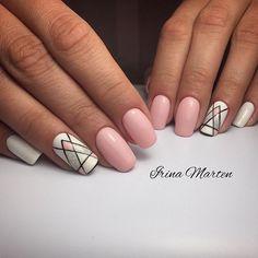 We all want beautiful but trendy nails, right? Here's a look at some beautiful nude nail art. Baby Pink Nails, Girls Nails, Hair And Nails, My Nails, Feather Nails, Tribal Nails, Geometric Nail Art, Modern Nails, Short Nails Art