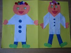 www.jufjanneke.nl | Ziek zijn/ziekenhuis poppenkast verhaal