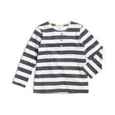 Grå Topp, Blockrandig tröja med träknappar...