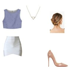 """a day at work#3"" by fashion4eva7 on Polyvore featuring Alice + Olivia, Christian Louboutin, Banana Republic and cute"
