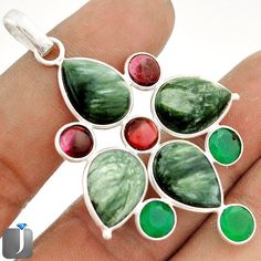 Items for sale by jewelexi Sterling Silver Pendants, Pendant Jewelry, Green, Ebay