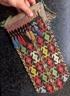 Istalifi Fine Antique c19th UZBEK Lakai Silk x Stitched Embroidered Scissor Bag   eBay