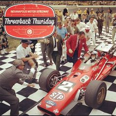 Mario Andretti in Victory Lane - 1969 Indy 500