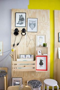 Great Wall Storage Idea Plywood Furniture, Unique Furniture, Kids Furniture, Office Furniture, Furniture Dolly, Wall Storage, Playroom Storage, Shelf Wall, Storage Bins