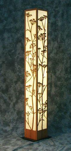 Love this Wild Fennel Decorative Laser Cut Wood Floor Lamp: