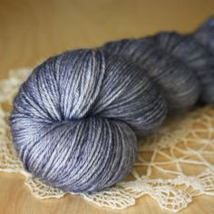 Bambou / Fingering Weight / Midnight Superwash BFL Wool Bamboo Hand Dyed Yarn