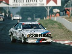 legendsofracing: The BMW 635 CSi of Dieter Quester, Altfrid Heger and Thierry Tassin which they won the 24 Heures de Francorchamps in 1986.