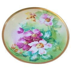 "Just Outstanding Vintage Limoges France Hand Painted Vibrant ""Red & Pink Poppies"" Floral Plate Red And Pink Roses, Hand Painted Plates, Pink Poppies, China Painting, Chocolate Pots, Tea Set, Vibrant, Porcelain, Pottery"