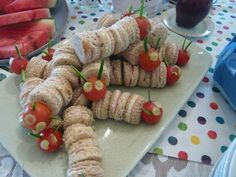 Very Hungry Caterpillar Sandwiches...would also make darling kebabs