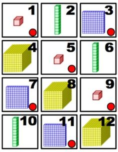 Base Ten Blocks Calendar Cards- helpful cards to reinforce place value anytime of the year