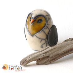 Chouette blanche en céramique raku *** DISPO A PARTIR DU 15/6*** : Accessoires de maison par fanfan-rouge-gorge
