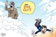 Bear Bryant kicks Paterno out of Heaven