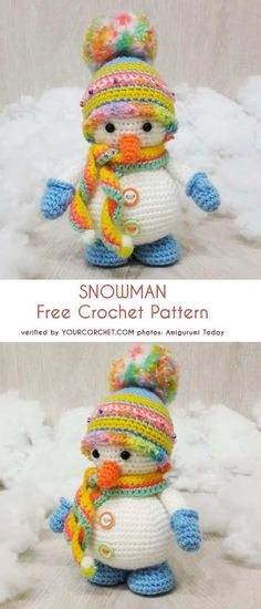 Most recent Totally Free crochet amigurumi snowman Tips Crochet Amigurumi Snowman Free Crochet Patterns Crochet Amigurumi Free Patterns, Crochet Patterns Amigurumi, Crochet Dolls, Crochet Angels, Cute Crochet, Knit Crochet, Crochet Afghans, Crochet Projects, Crochet Crafts