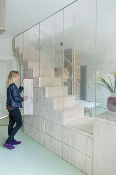 A Copenhagen Apartment Packs Some Seriously Clever Small Space Solutions — Yatzer Stair Renovation, Apartment Renovation, Apartment Therapy, Small Space Living, Small Spaces, Living Spaces, Layout, Copenhagen Apartment, Appartement Design