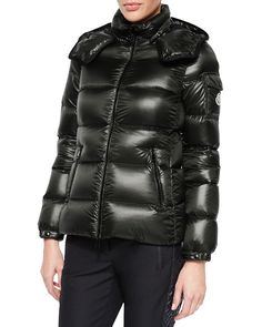 Berre Lightweight Hooded Puffer Coat, Size: 1 (X-Small), Red - Moncler