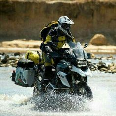 The liquid-cooled version of the 2013 BMW has been years in the making, and Touratech is pleased tthe bike has not only retained its off-road capabilities, but raised the bar. Gs 1200 Adventure, Off Road Adventure, Adventure Travel, Enduro Motorcycle, Motorcycle Camping, Motorcycle Adventure, Bmw Motorbikes, Bmw Motorcycles, Rallye Raid