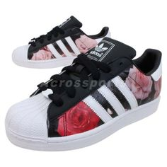 adidas rose print trainers