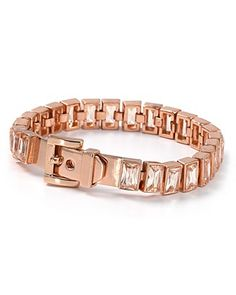 Michael Kors Rose Gold Tennis Bracelet
