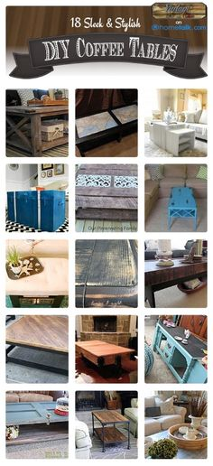18 Sleek & Stylish DIY Coffee Tables | by 'DIY Vintage Chic' blog!