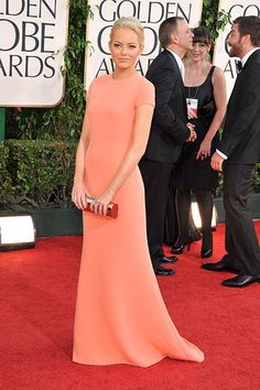 Emma Stone's best red carpet outfits—The Golden Globe Awards, 2011
