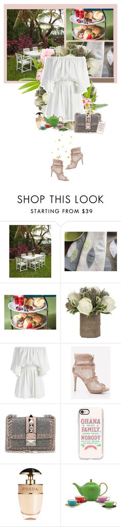 """""""Family Time : Tea Time"""" by stevie-pumpkin ❤ liked on Polyvore featuring Jayson Home, Chicwish, Valentino, Casetify, Prada and Kate Spade"""