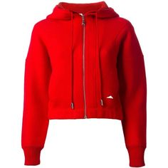 KENZO cropped hooded sweatshirt ($750) ❤ liked on Polyvore featuring tops, hoodies, sweatshirts, jackets, shirts, red crop top, red hoodie, long sleeve sweatshirt, long sleeve hoodies and hooded sweatshirt