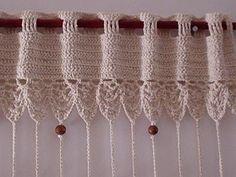 Виды креплений вязаной занавеси