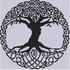 Celtic Tree Cross ... by Motherbeedesigns | Embroidery Pattern - Looking for a embroidery pattern for your next project? Look no further than Celtic Tree Cross Stitch Pattern  from Motherbeedesigns! - via @Craftsy