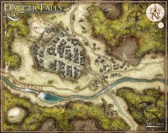 The Town of Dagger Falls