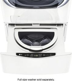 Shop at Best Buy for LG TWIN Wash laundry appliances, including the LG SideKick that doubles small washer and laundry pedestal. White Washing Machines, Lg Washer And Dryer, Lac Saint Jean, Drain Pump, Lg Electronics, Small Laundry, Laundry Room, Basement Laundry, Front Load Washer