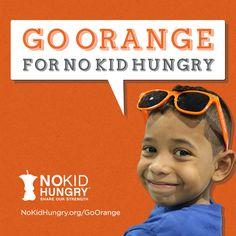 no kid hungry Charity, Children, Kids, America, Orange, Funny, Young Children, Young Children, Boys