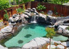 small swimming pools | Custom residential swimming pools built with our naturalistic look is ...