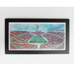 Hey, I found this really awesome Etsy listing at https://www.etsy.com/listing/213702031/ohio-state-buckeyes-art-print-framed
