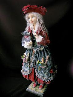 Авторская коллекционная кукла из полимерной глины - Ярмарка Мастеров - ручная работа, handmade
