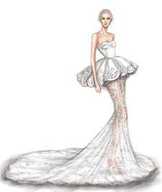 O trabalho do artista Shamek é bem bacana pra ajudar noivas na busca pelo vestido perfeito