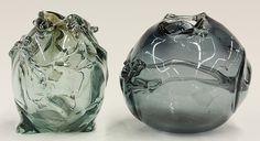 Modernist studio glass sculptures by Robert Fritz