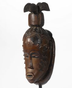 GURO MASK, IVORY COAST wood Height: 13 1/2 in (34.3 cm)
