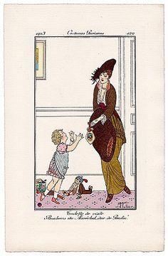 Armand Vallée 1913 Journal des Dames et des Modes Costumes Parisiens N°129