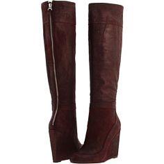 Badgley Mischka wedge boots