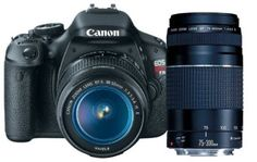 Click the pic to buy - Canon EOS Rebel T3i 18 MP CMOS APS-C Sensor DIGIC 4 Image Processor Digital SLR Camera with EF-S 18-55mm f/3.5-5.6 IS Lens + Canon EF 75-300mm f/4-5.6 III Telephoto Zoom Lens