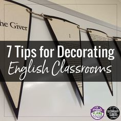 Ideas and resources for middle and high school English teachers! Ideas and resources for middle and high school English teachers! English Classroom Displays, English Classroom Posters, English Teacher Classroom, Ela Classroom, English Teachers, Teaching English, English Posters, Modern Classroom, Classroom Board