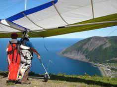 Vue Du Ciel - Mont St-Pierre : deltaplane tandem mont-st-pierre gaspésie québec vol d'initiation certificat cadeau activité guidée plein air...