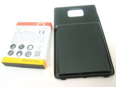 Buy Samsung Galaxy S 2 II SGH-I777 Extended Capacity 3500mAh Li-Ion Battery + Black Battery Door Cover ~ Mobile Phone Repair Parts Replacement NEW for 11.95 USD | Reusell