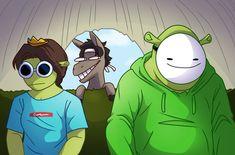 My Dream Team, Just Dream, Stupid Funny Memes, Haha Funny, Dream Friends, Minecraft Fan Art, Dream Art, Cute Gay, Fanart