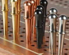 12 SOLID METAL CRIBBAGE BOARD PEGS #ChristyMadePegs