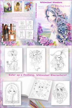 I have something super exciting to share with you! 😀😍I start on a kickstarter for my new coloring book! The campaign will offer book, the original illustrations, exclusive images in PDF for backers and more....  #coloringforadults #coloriage #colortherapyaddict #whimsy #colortherapyclub #coloring #draw #coloringpage