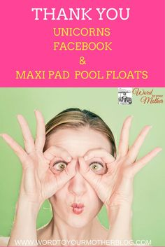 Have you heard of the ridiculous pool float that is shaped like a maxi pad? Heard about the Passion Dust/Glitter bomb your vagina trend? Well, head on over to find out why I'm thanking this insanity (and more)...