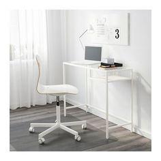 VITTSJÖ Laptoptafel - wit/glas - IKEA