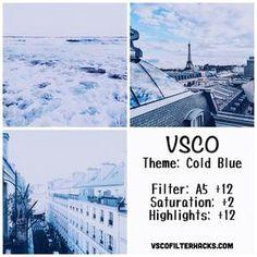 Alimentación en Frío Azul Instagram Usando VSCO Filtro A5